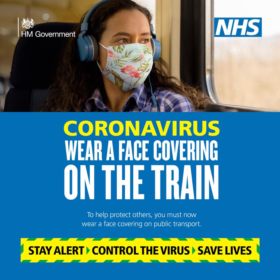 Wear a face covering on the train