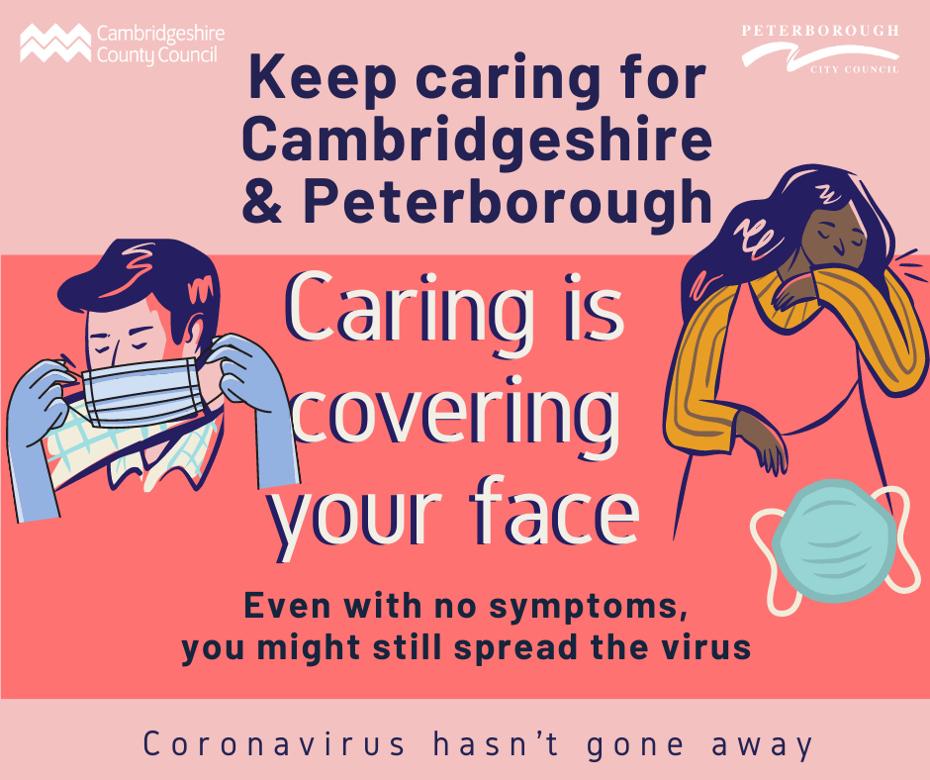 Keep caring campaign - Caring is covering your face. Even with no symptoms you might still spread the virus