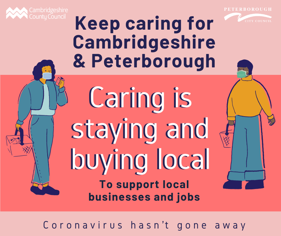 Keep caring campaign - Caring is staying and buying local