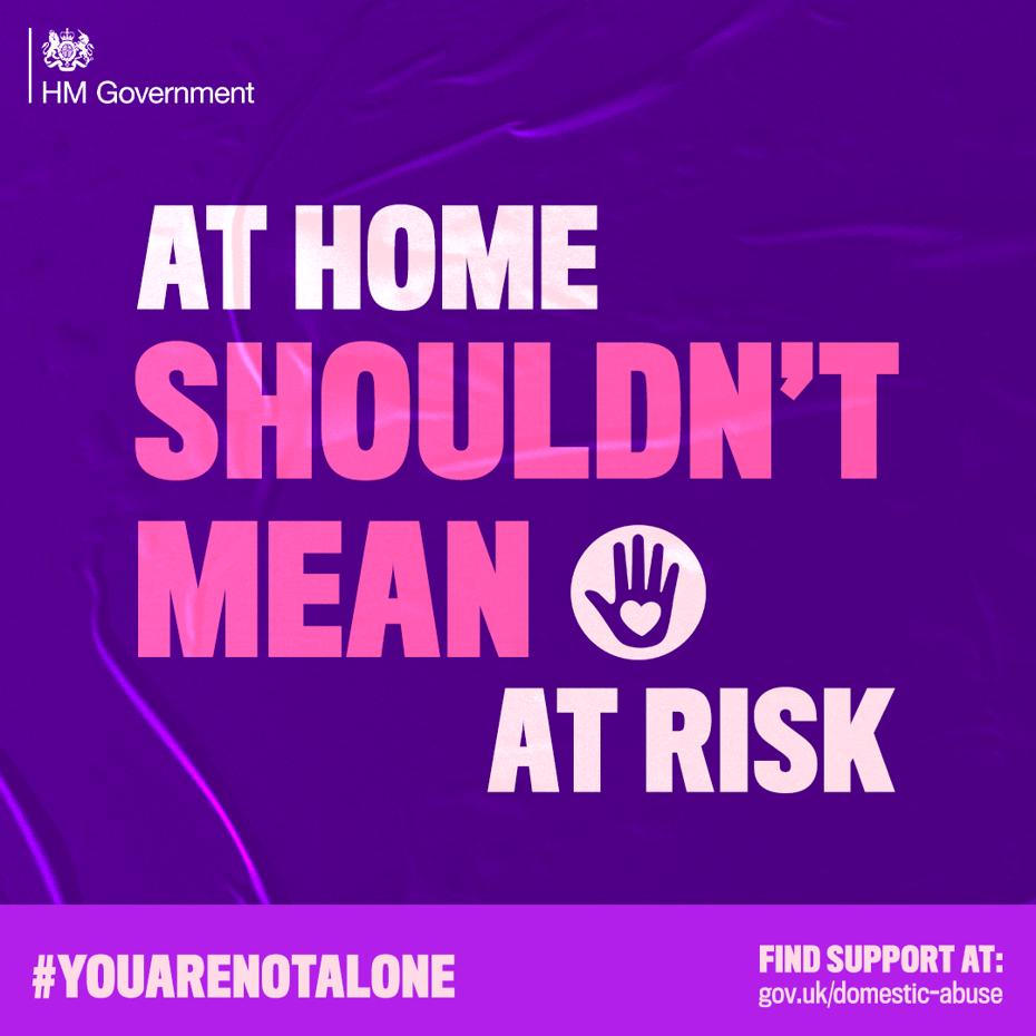 At home shouldn't mean at risk campaign facebook image