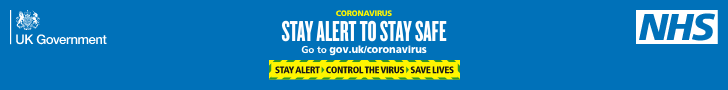 Stay alert banner message - horizontal