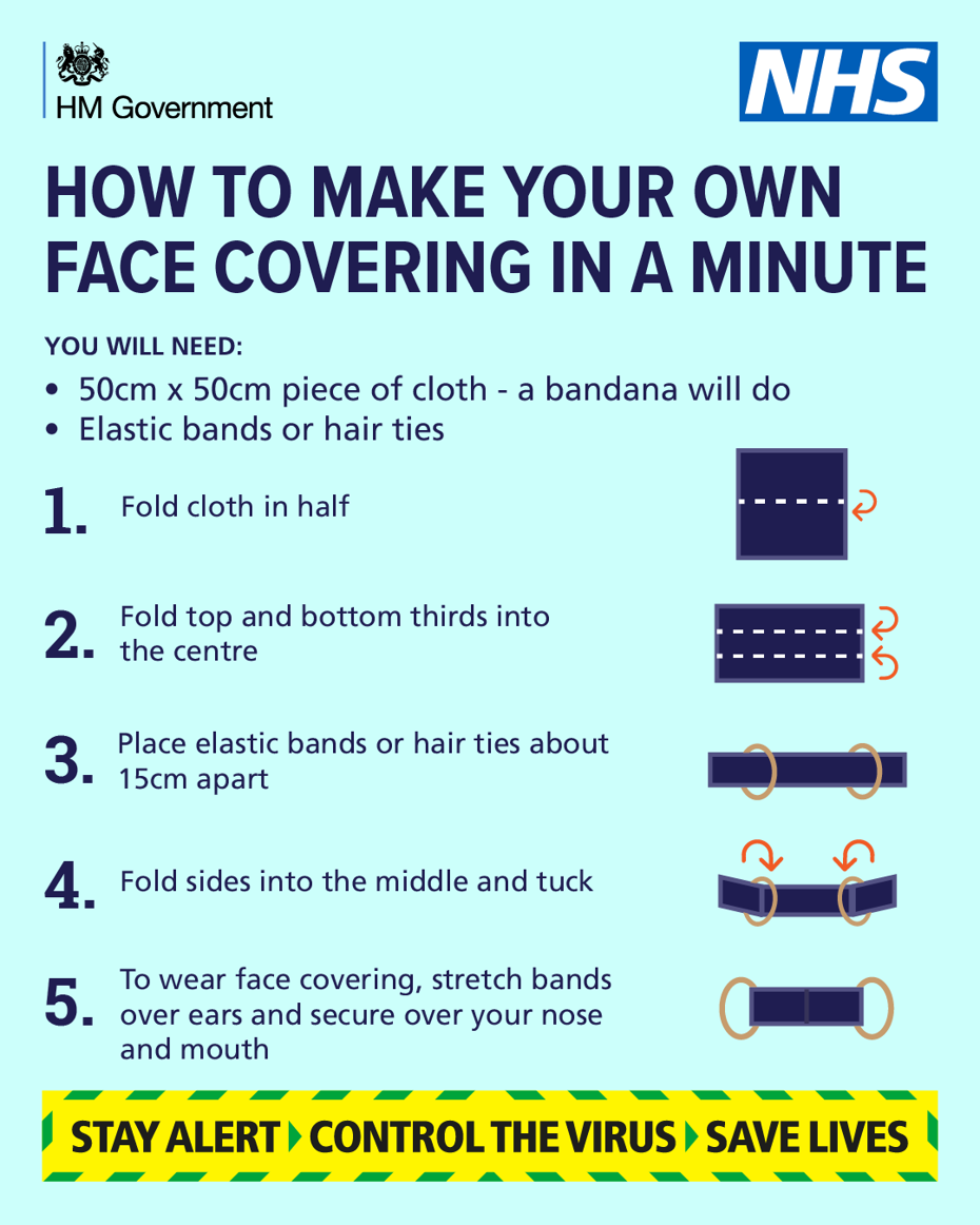 How to make your own face covering in a minute