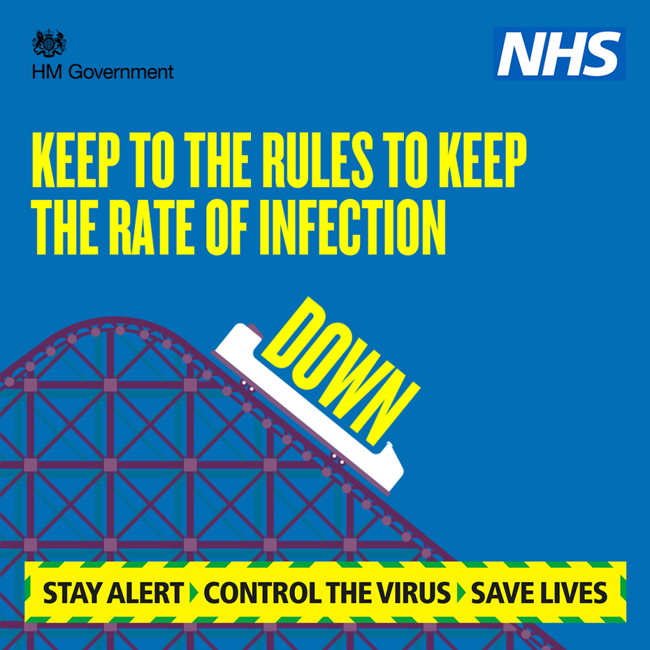 Stay alert - keep to the rules to keep the rate of infection date
