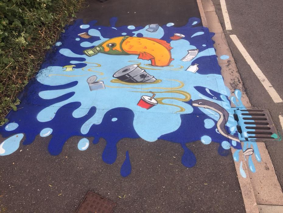 Mural on pavement at Norwood Primary School